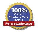 30 napos 100%-os megelégedettségi garancia, pénzvisszafizetéssel.